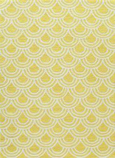 Geo Yellow Area Rug