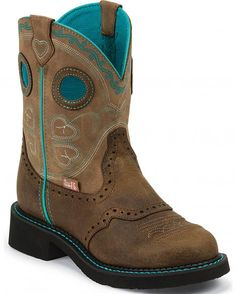 Justin Brown Gypsy Light Blue Accents 8