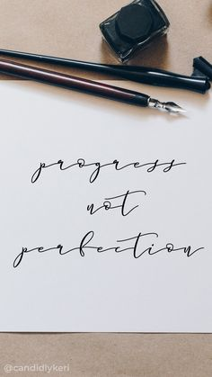Devices — Candidly Keri - progress not perfection calligraphy typography inspirational motivational quote background wallpaper - Calligraphy Quotes Scriptures, Calligraphy Doodles, Calligraphy Letters, Modern Calligraphy Quotes, Calligraphy Wallpaper, Calligraphy Background, Calligraphy Lessons, Fonts Quotes, Quote Typography