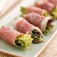 Prosciutto-Wrapped Greens - FineCooking