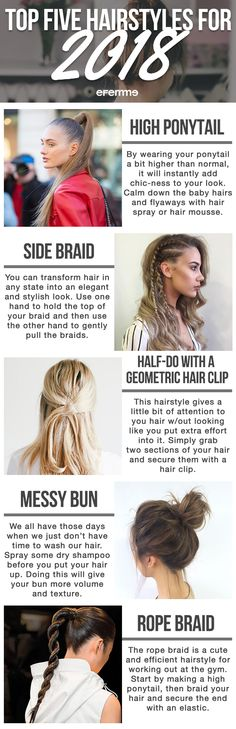Hairstyles change throughout the seasons. And there are a few that make a comeback. Below are the top five hairstyles you must try in 2018. #haircut #hair #hairstyle #hairstyleideas #haircolor #haircut #hairfashion #haircare #hairdo #hairdesign #hairenvy #hairhowto #hairideas #hairinspiration #hairoftheday #hairproducts #hairsandstyles #hairtutorial #hairtips #aesthetic