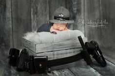 State Trooper baby hat - State trooper gift - state trooper baby shower - state trooper photo prop - state trooper costume
