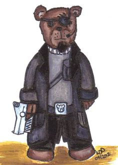 Avengers Inspired Colonel Nick Furry Agent of CUDDLY by altworld, $2.00