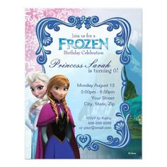 Customize this Disney Frozen invite, perfect for any occasion!