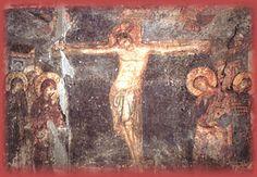 Манастир Жича  Распеће Христово (источни зид јужне певнице, 1220-1221.г.)
