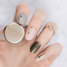 Time for 6 different minimal manicure inspo we created specially for the season's festivities!! Make sure to check future posts to tell us which one is your favourite!⠀ ⠀ ⠀ Plates - Frenchy 18⠀ Polishes - Black Knight // Ginger Rust // Into the Woods // Cafe au Lait // In the Nude // Silver Fox⠀ ⠀ #MYL #moyoulondon ⠀⠀⠀⠀⠀ ⠀⠀⠀⠀ #cutenails #minimalnails #winternails #notd #nailsoftheday #nailart #naillove #ignails #elegantnails #instanails #nailsofinstagram #bbloggers #nailfashion #holidayna...