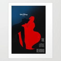 The Little Mermaid Art Print by Comicord - $14.56