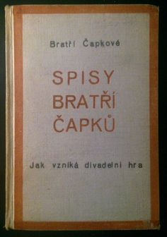 Czech avant-garde Karel a Josef #CAPEK 1925 SPISY BRATRI CAPKU Book Collection, Illustration, Books, Libros, Book, Illustrations, Book Illustrations, Libri
