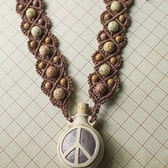 New jewelry up for sale including this Peace Sign Raku Bottle Necklace! Check them out! :)