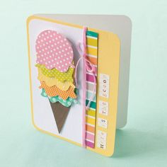 Cute diy card for summer time - like the layered ice cream