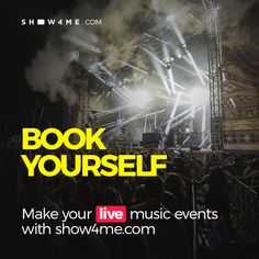 Book yourself and create amazing concerts, tours, fests, intimate and private events for free and do that with Show4Me professional managers and graphic designers! #show4me #crowdfunding #concertcrowdfunding #concert #DIY #promoter