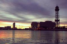 Skyline, Hotel W, WTC, Jaime I tower, Barcelona #Spain