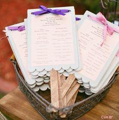 Programas con lazo para boda