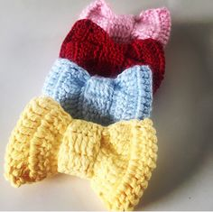 A personal favorite from my Etsy shop https://www.etsy.com/listing/493754384/sale-buy-1-get-2-crochet-bow-tie-hair