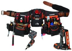 Husky Carpenters Construction 21-Pockets Pouches Full Apron With Tool Belt #Husky