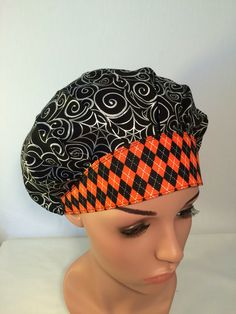 PIN15 coupon  Please visit my shop for 15% discount of entire purchase for all my Pinterest fiends and followers . Use coupon PIN15 at the time of checking out .   A personal favorite from my Etsy shop https://www.etsy.com/listing/453126224/halloween-bouffant-surgical-scrub-hat