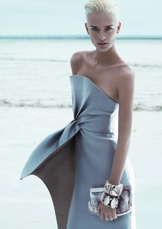 Giorgio Armani Spring/Summer 2012  Model: Milou van Groesen  Photography: Mert & Marcus  #fashion #style #hautecouture