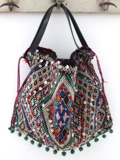 Ethnic Colour Explosion - Pay special attention to the stitched sequins+pom-poms+colours