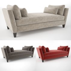 Crate and Barrel Marlowe Daybed Sofa | 3D Model