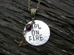 Hunger Games Inspired Girl On Fire by ChrisClosetCreations on Etsy, $18.00