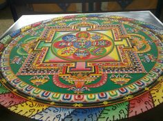 Tibetan monks from the Drepung Loseling Monastery created this beautiful sand mandala.