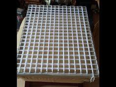 loom board pom pom blanket part 6 - YouTube