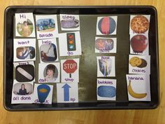 How to Make a Communication Board Out of a Cookie Sheet - For Autism, Apraxia, and Aphasia