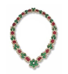 Emerald, Ruby and Diamond Necklace, Van Cleef & Arpels, France - Sotheby's