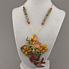 Garden Fantasy Necklace by oscarcrow on Etsy, $45.00