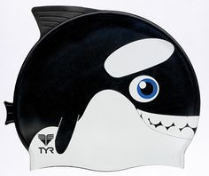 We love Travel + Leisure's list of top family travel gear, like this TYR Orca Kids swim cap.