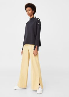 Pull-over boutons contrastants | MANGO
