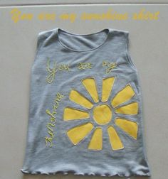 Sewing The Littleheart Collection: You are my sunshine top