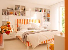 love the storage and the stripy bed.  holy cuteness