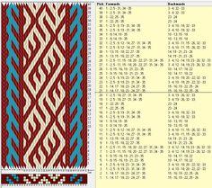 35 tarjetas, 3 colores, repite cada 20 movimientos // sed_319 diseñado en GTT༺❁