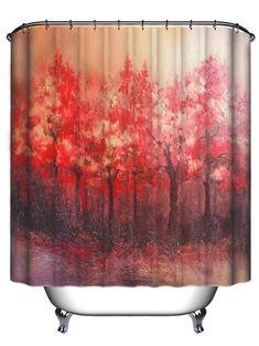 Tree Pattern Waterproof Shower Curtain Bath Decor - COLORMIX 180CM*180CM