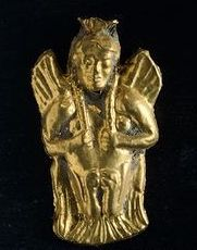 Necklace pendant, from Bientina (Tuscany). Etruscan Civilization, 5th Century BC.