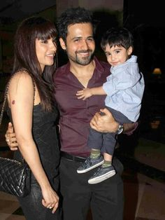 Imran with wife nd son...