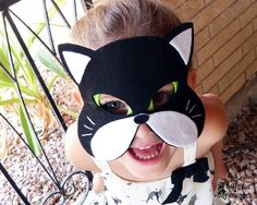 Cat Mask Tail Pattern Set DIY Costume Tutorial Dress Up Pretend Play Instructions to make