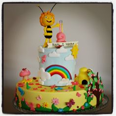 2Nd Birthday Party Cake Maya The Bee  on Cake Central