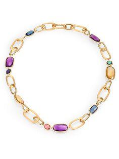 Marco Bicego - Semi-Precious Multi-Stone & 18K Yellow Gold Necklace - Saks.com