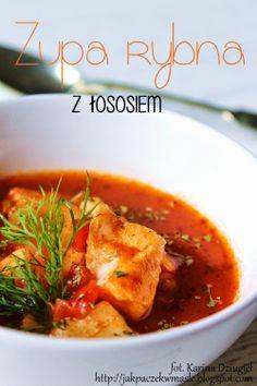 Jak pączek w maśle...: Aromatyczna zupa rybna z łososiem