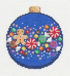 *2015* Associated Talents Confetti Candy handpainted Needlepoint Canvas Ornament