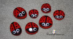 Ladybug rocks. Find the lady bug games. Adorable ladybug party ideas, games and tutorial.