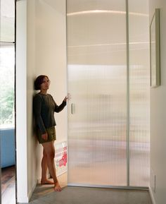 Bedrooms 1&2 - translucent pocket door for bedroom closets