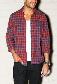 Classic Fit Flannel Shirt | 21 MEN - 2000074591