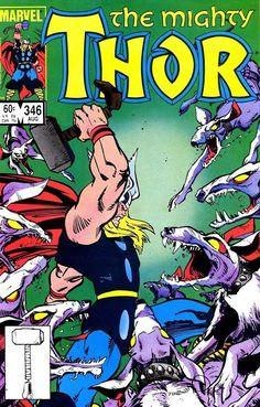 Comic Book Critic - Google+ - Thor #346 (Aug '84) cover by Walter Simonson.