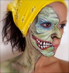Old lady or young maiden? #Halloween #facepaint