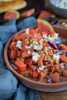 Wassermelonen-Feta-Salat: Urlaub zu Hause ⋆ Knusperstübchen