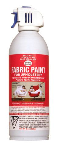 Brite Red Upholstery Fabric Paint.  For porch cushions faded by sun