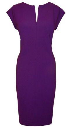 f8f2f58a5c4 Escada Dress Iris Purple Zip Front Sheath Didda Dress Euro 42 - US Size 14  Immaculate